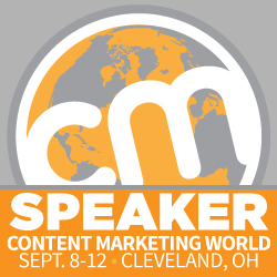 I'm speaking at Content Marketing Marketing World!