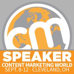 I'm speaking at Content Marketing Marketing World!