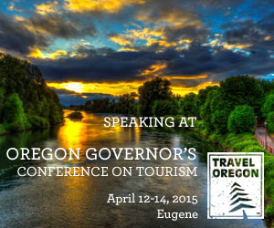 I'm Keynoting at the Oregon Governor's Conference on Tourism