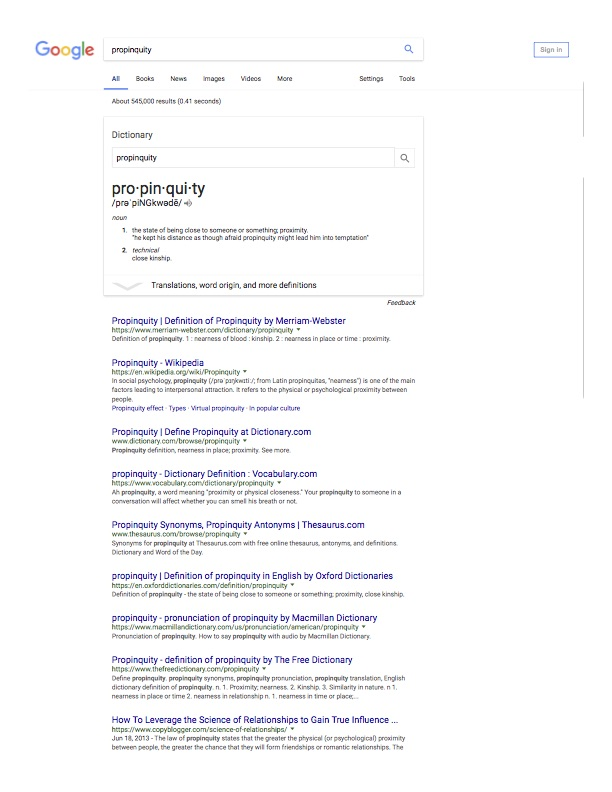 propinquity - copyblogger SEO